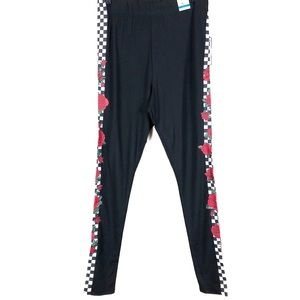 Rue 21 | Black Hi Rise Checkerboard Floral Legging